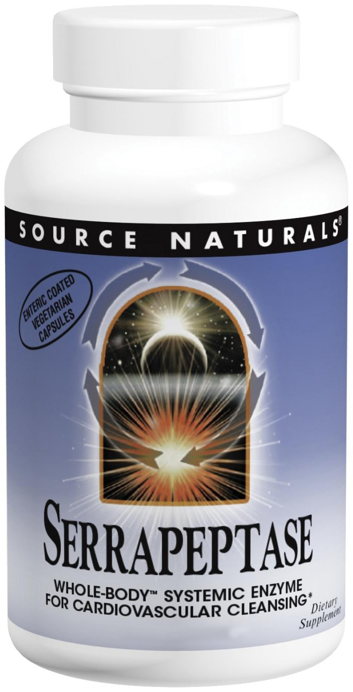 Serrapeptase 500 mg 120 caps by Source Naturals