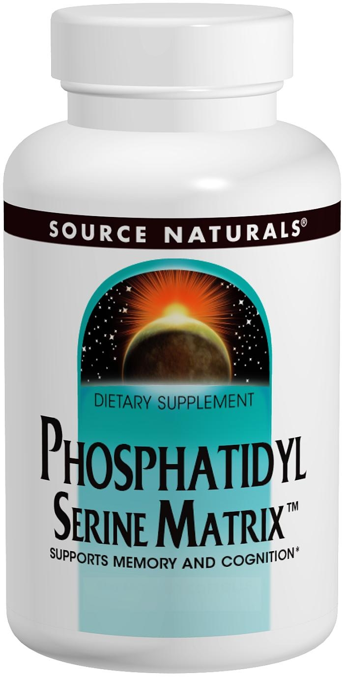 Phosphatidyl Serine Matrix 500 mg 60 sgels by Source Naturals