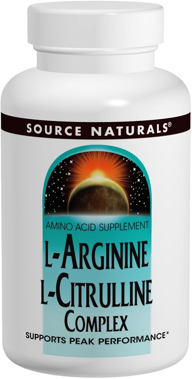 L-Arginine L-Citrulline Complex 1000 mg 120 tabs by Source Naturals