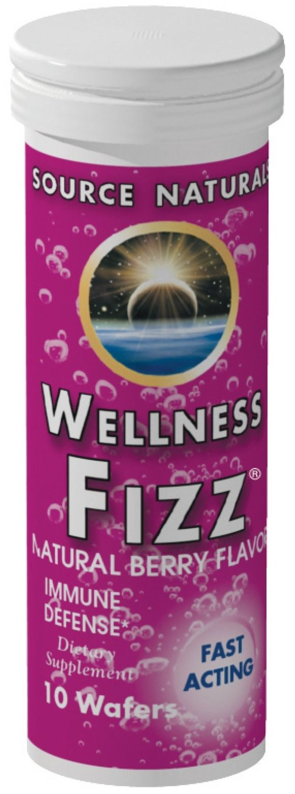 Wellness Fizz 10 wafers by Source Naturals