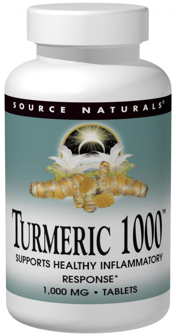 Turmeric 1000 - 95% Curcumin 1000 mg 60 tabs by Source Naturals