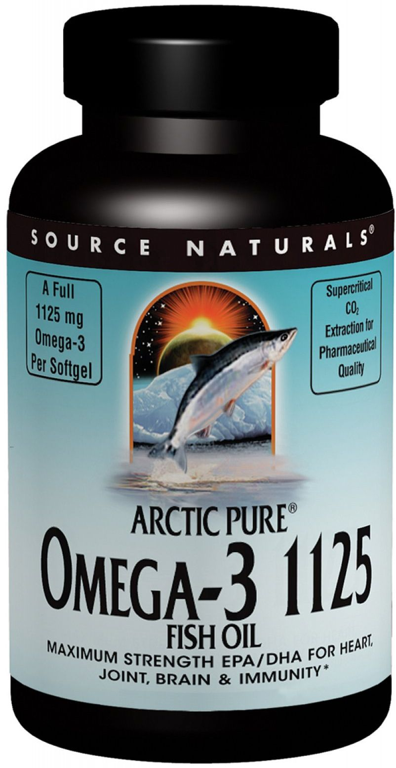 ArcticPure Omega-3 1125 Fish Oil 60 sgels by Source Naturals