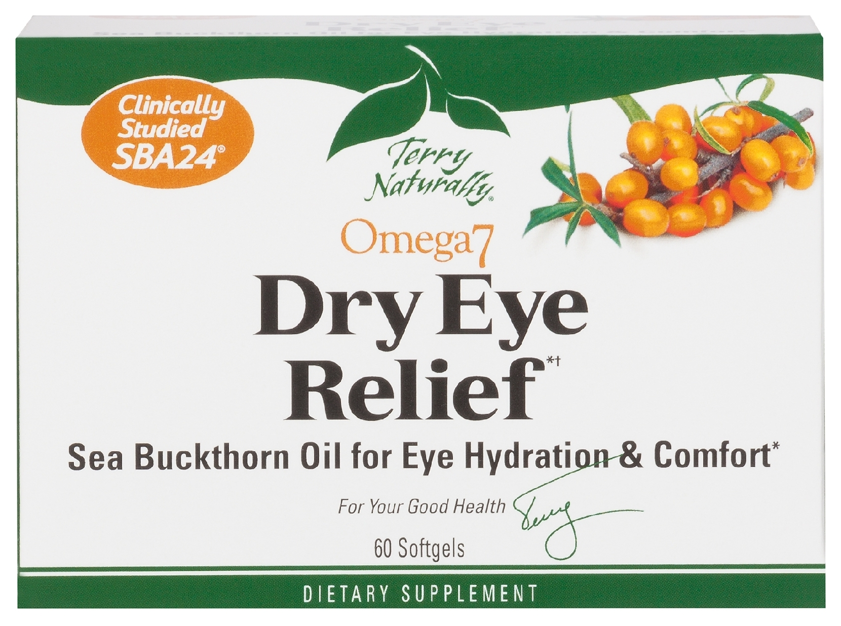 Terry Naturally Omega-7 Eye Relief 60 sgels by EuroPharma