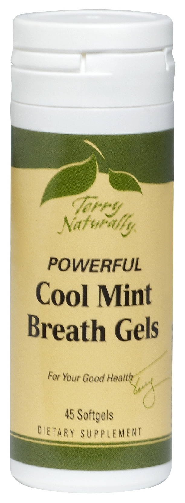 Terry Naturally Cool Mint Breath Gels 45 sgels by EuroPharma