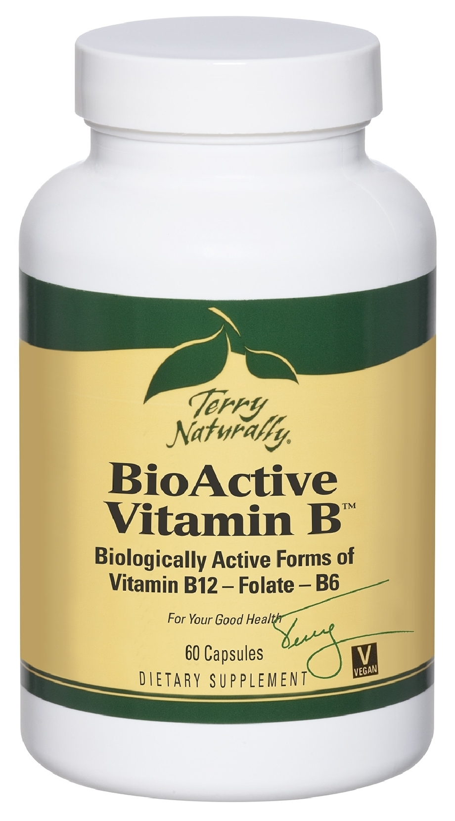 Terry Naturally BioActive Vitamin B 60 caps by EuroPharma