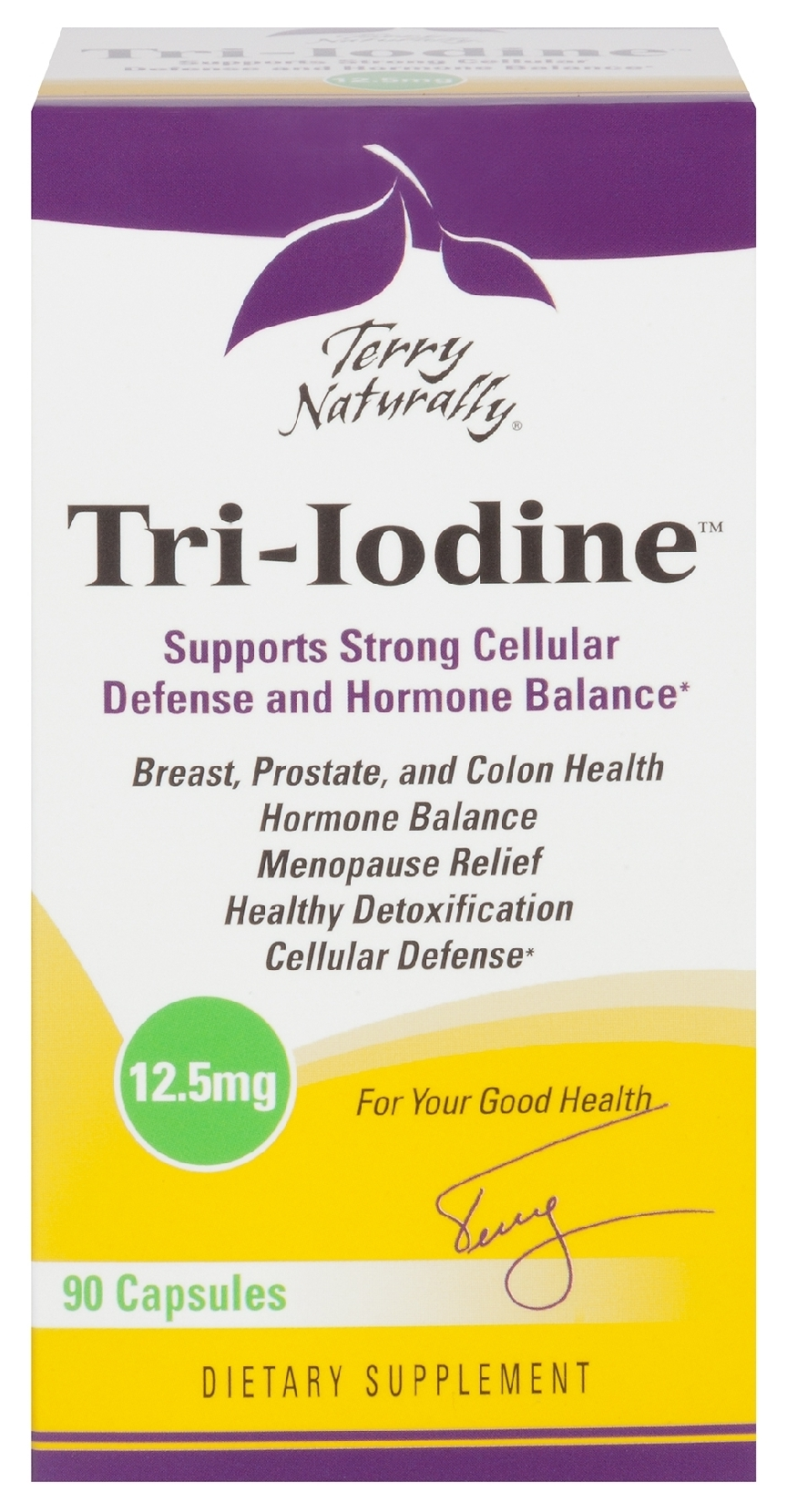 Terry Naturally Tri-Iodine 12.5 mg 90 caps by EuroPharma