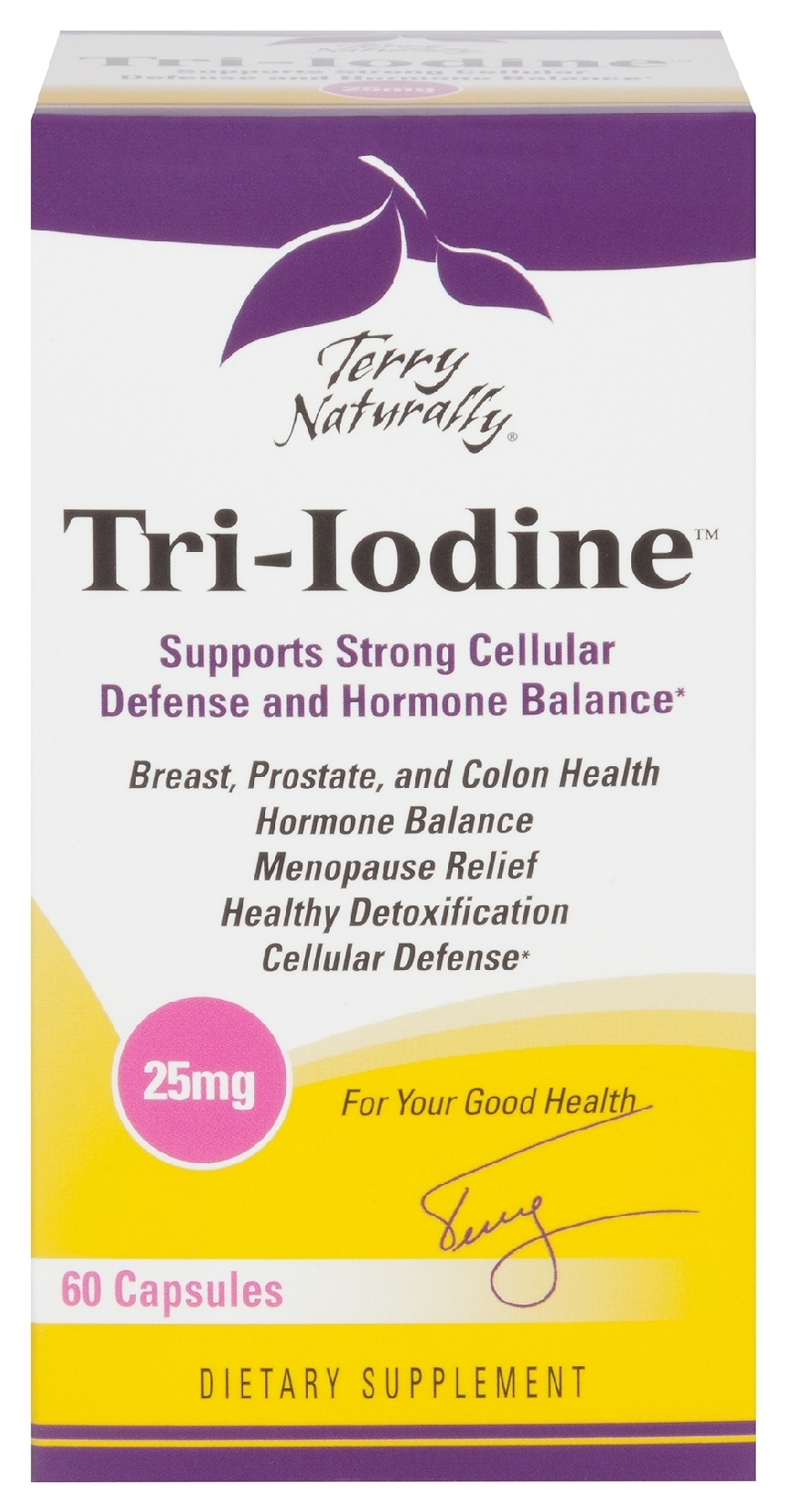 Terry Naturally Tri-Iodine 25 mg 60 caps by EuroPharma