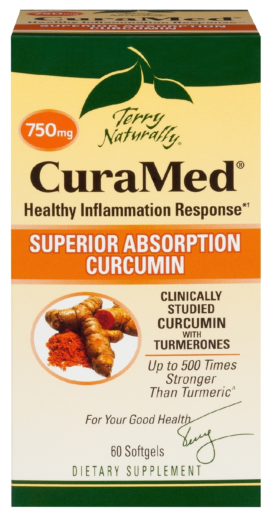 Terry Naturally CuraMed 750 mg 60 sgels by EuroPharma