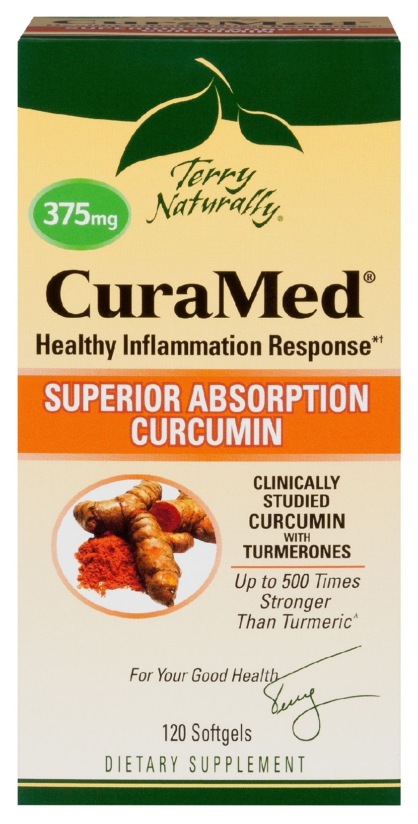 Terry Naturally CuraMed 375 mg 60 sgels by EuroPharma